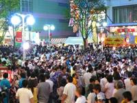 八戸市中心街でのイベント